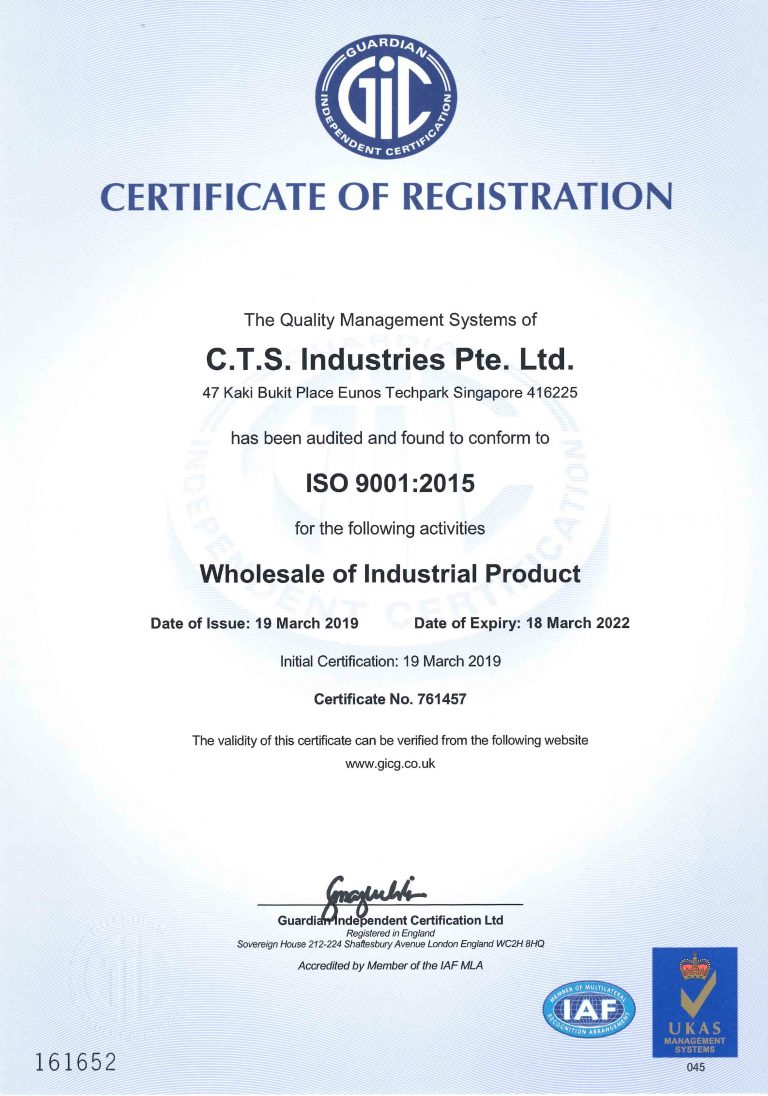 ISO 9001-2015 certificate (19032019-18032022)